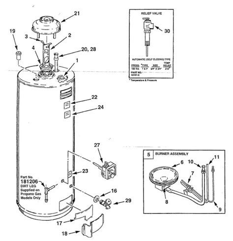 electric water heater parts diagram water heater parts diagram valvehome us