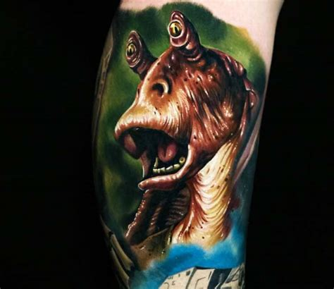 jar jar binks tattoo jar jar binks by audie fulfer post 23446