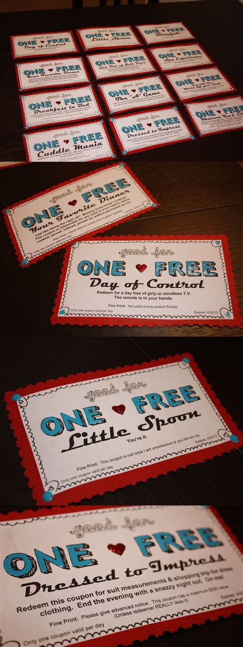 Handmade Coupon Book For Boyfriend - coupons for boyfriend valentines day