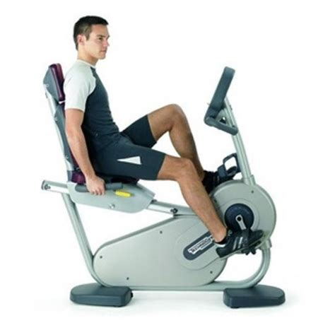 Chair Bicycle Exercise Machine by Technogym Excite 700i Recline Exercise Bike Technogym