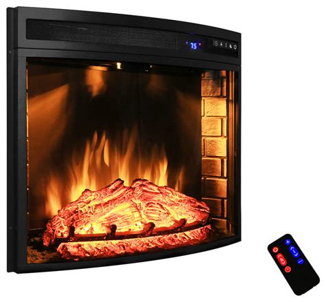 freestanding electric fireplace heater 28 quot modern