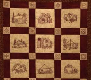Landscape Quilt Patterns by Quilt Barns Quilt Pattern Redwork Embroidery Blocks Amp Quilt