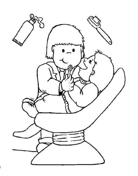 dentist coloring pages printable dentist people who help us preschool early years coloring