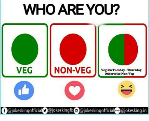 Who Are You Meme - who are you veg non veg veg on tuesday thursday otherwise
