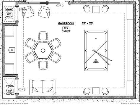 game room floor plans rockingham
