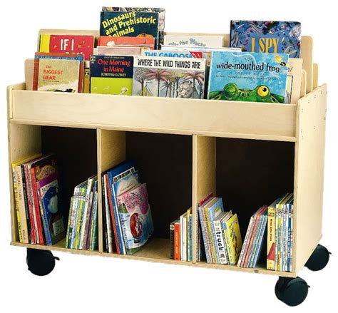 kids book storage whitney brothers home kids children mobile book storage island contemporary kids bookcases