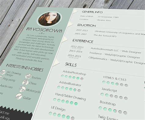 30 Free Beautiful Resume Templates To Download Web Design News Newslocker Free Pretty Resume Templates