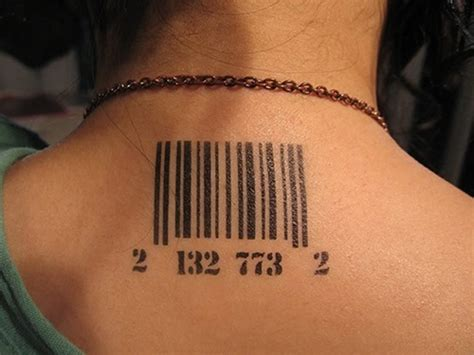 barcode tattoo on head 15 unique barcode tattoo designs