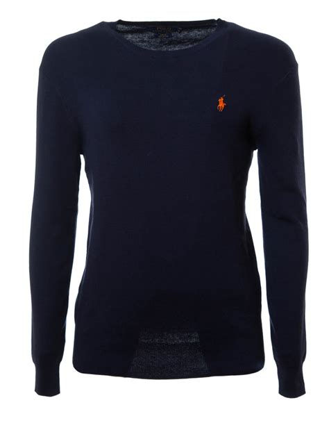 ralph knitted polo knitted cotton crewneck by polo ralph crew necks