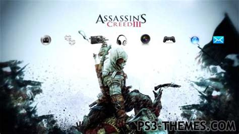 themes hd for ps3 ps3 themes 187 assassins creed 3 hd theme