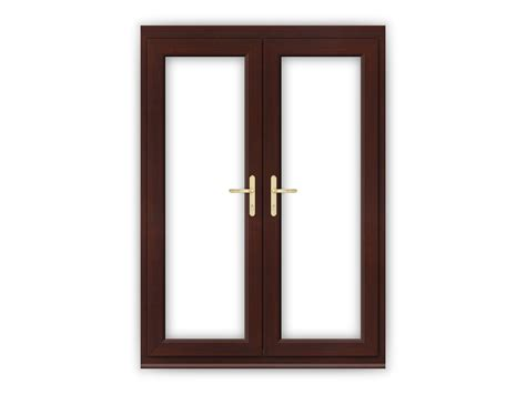 5ft Rosewood uPVC French Doors   Flying Doors
