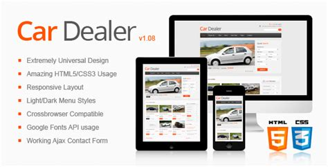 car dealer email templates car dealer responsive html5 css3 template by thememakers