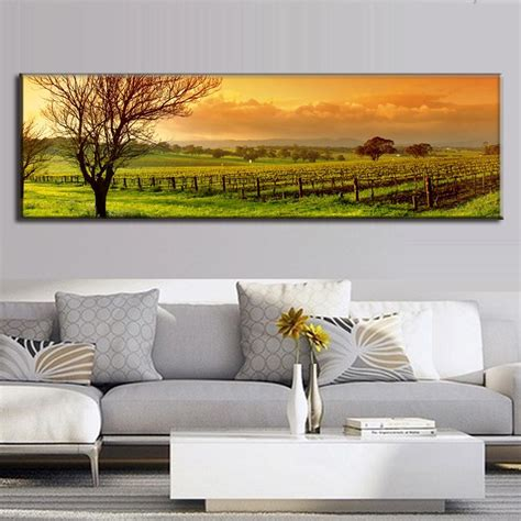 paintings home decor large single picture landscape vineyard canvas