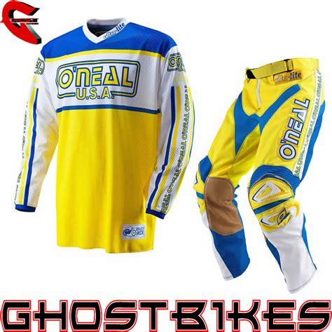 retro motocross jersey oneal 2012 ultra lite le 83 blue yellow retro motocross