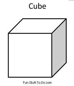 cube printable coloring pages