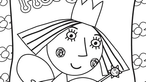 princess holly coloring page ben and holly s little kingdom princess holly coloring