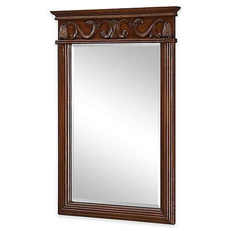 brown bathroom mirror isabella vanity mirror in brown bed bath beyond