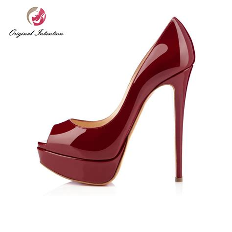 High Heels Us aliexpress buy original intention new fashion pumps peep toe thin high heels