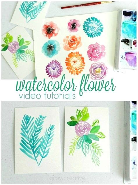 watercolour quotes tutorial 25 best ideas about watercolor flowers tutorial on