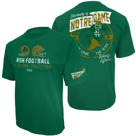 T Shirt Notre Dame White 2015 the shirt of notre dame
