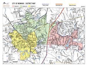 newnan map city council city of newnan