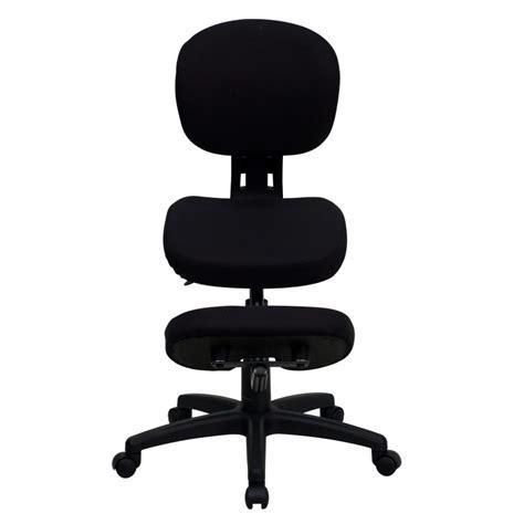 mfo mobile ergonomic kneeling posture task chair in black