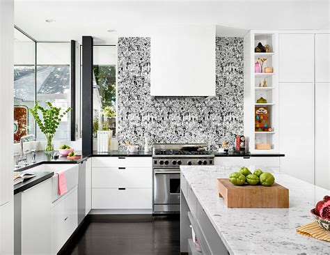 Wallpaper Design For Kitchen | kitchen wallpaper ideas wall decor that sticks