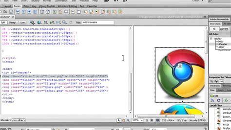 tutorial javascript dreamweaver dreamweaver tutorial css 3 animated continuous image scroller