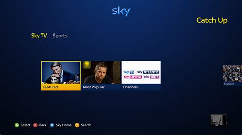 film 4 catch up app set up and use the sky app on xbox 360