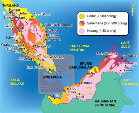 Di Malaysia geografi taburan penduduk