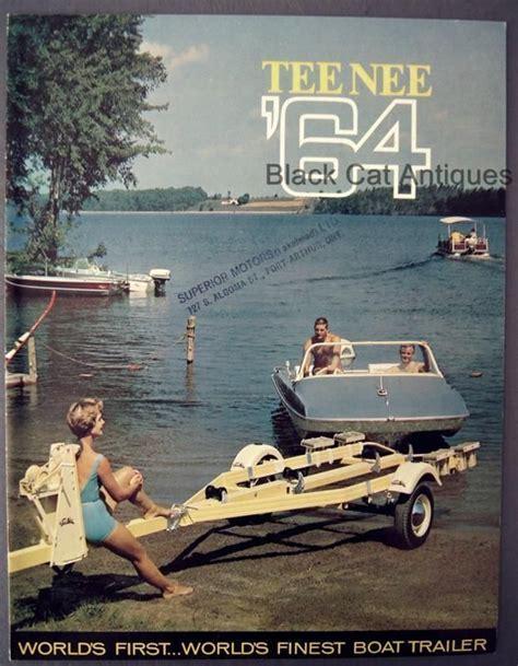 boat trailer in french original vintage 1964 tee nee boat trailer color brochure