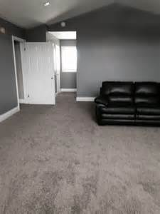 Light Grey Walls What Colour Carpet High Piled Frise Carpet In A Great Room Loving The Dark