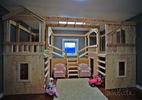 the make out room white diy basement indoor playground with monkey bars diy projects