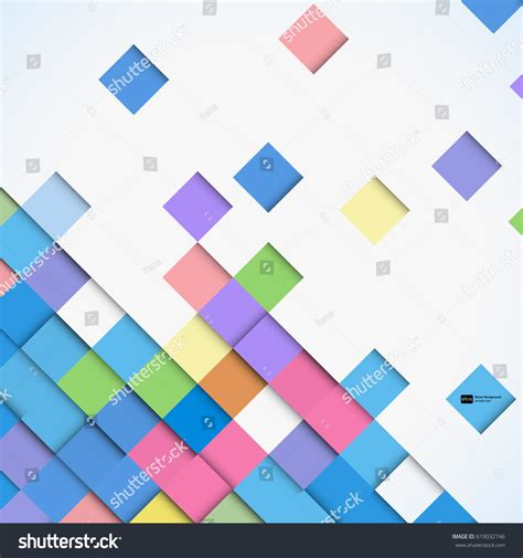 colorful background mosaic pattern design abstract colorful square mosaic background vector stock