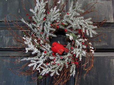 Winter Door Wreaths by Winter Wreath Front Door Wreath Cardinal By Designawreath