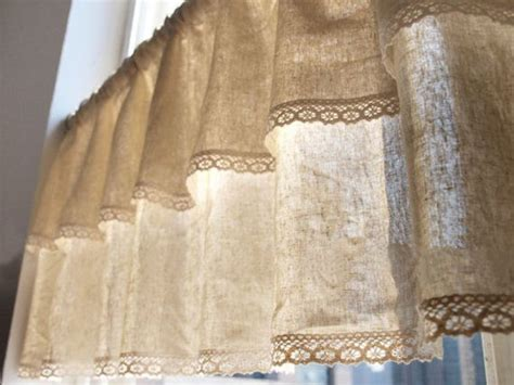 curtain sewing pattern valances cafe curtain tie up natural linen cotton blend cafe curtain valance with