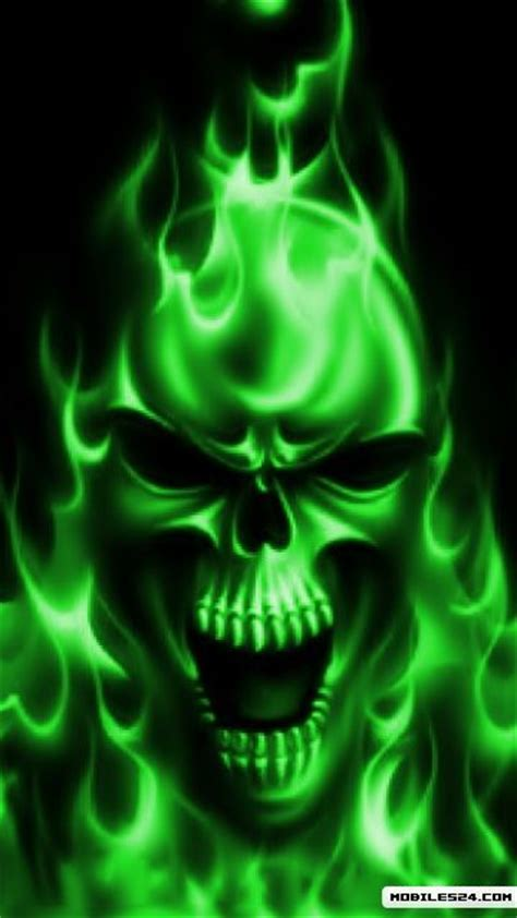 wallpaper green skull green skull free 360x640 wallpaper download download