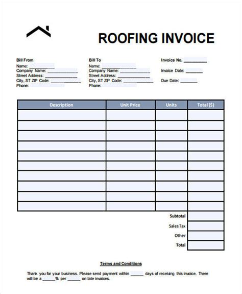 Roofing Receipt 6 Roofing Invoice Templates Free S Le Ex Le Format Download Sc 1 St Wingmeup Us Roofing Template