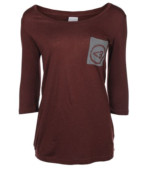 bench womens clothes bench womens moredan long sleeve top in purple dark brown