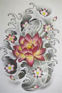 Lotus And Cherry Blossom 44 Japanese Lotus Tattoos Collection