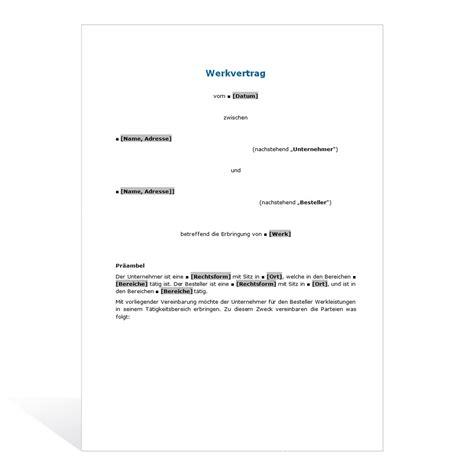 vorlage rechnung werkvertrag 28 images muster