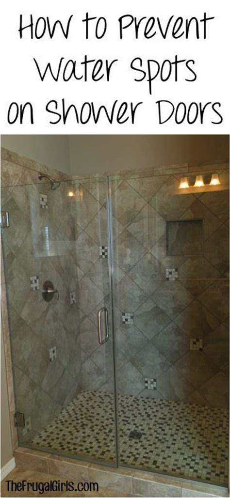 Water Spots On Shower Doors How To Prevent Water Spots On Shower Doors At Thefrugalgirls This Simple Trick