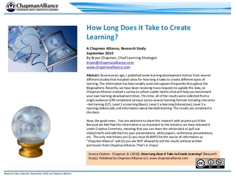 how does it take to crate a how does it take to create learning
