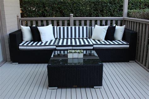 Black Patio Furniture by 5 Ways Licorice Black Bw 5 Outdoor Wicker Furniture