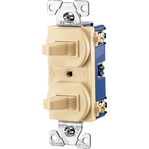 leviton decora 15 single pole ac switch white