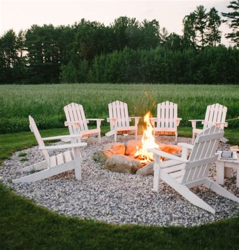 Adirondack Chairs Around Pit magical outdoor pit seating ideas area designs