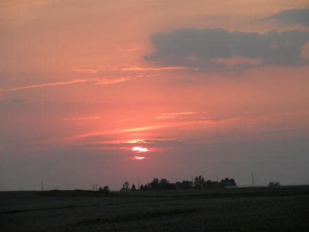 Illinois Prairie Sunset   my wisconsin space 187 prairie