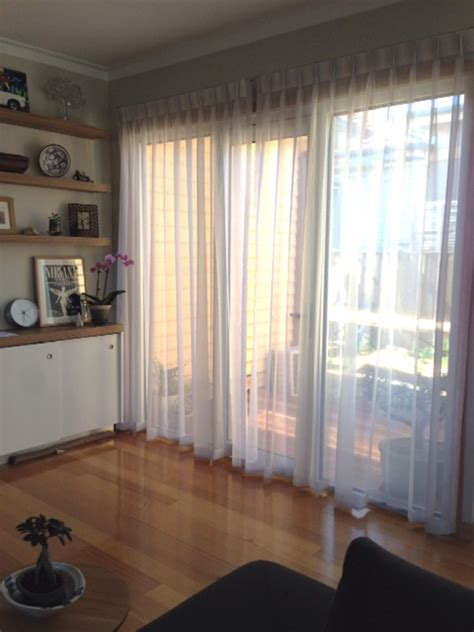 Curtains And Blinds Melbourne by Triple Pinch Pleated Sheers On Decorative Rods
