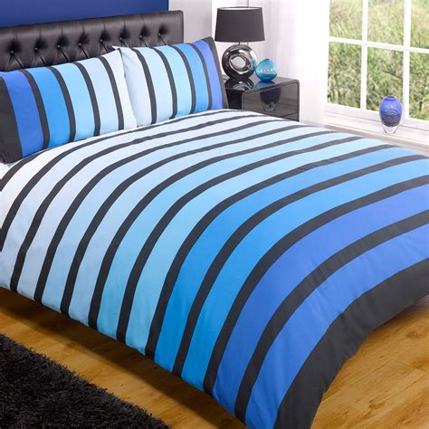 Striped Bedding Set Striped Poly Cotton Duvet Cover Modern Quilt Cover Bedding Bed Set Ebay