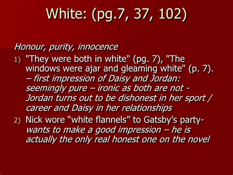 colors in great gatsby wynberg high jackie kunze colours in the